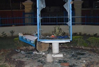 And now Church vandalized in Agra