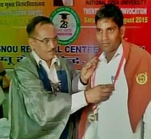 Varanasi jail inmate awarded IGNOU gold medal