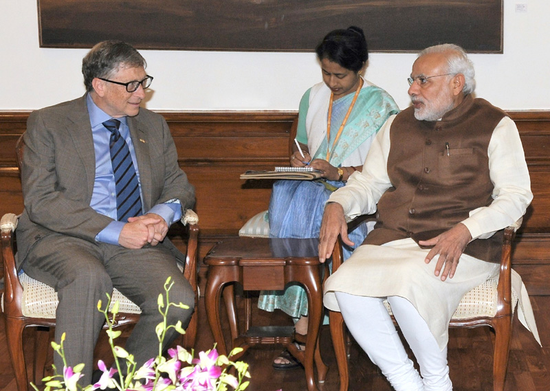 Bill Gates discusses clean energy initiatives with PM Modi
