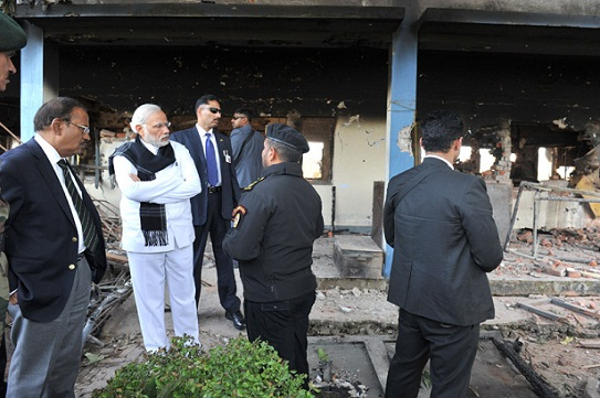 PM visits Pathankot Airbase; review security situation