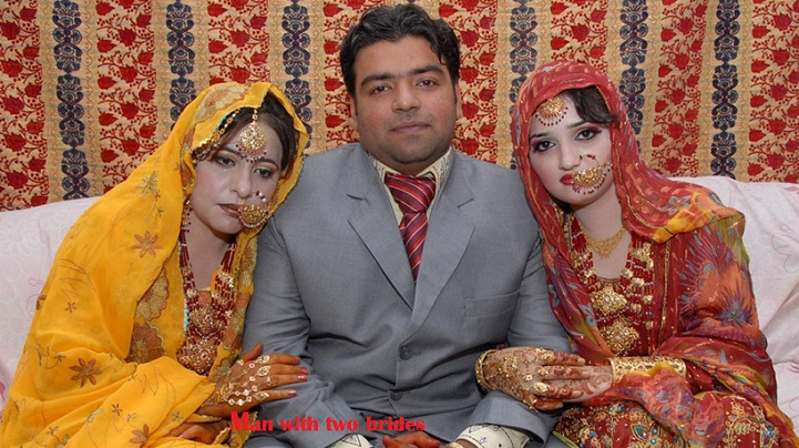 Pakistan man with 2 brides
