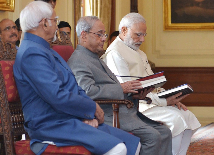 President, PM at the release of book 'Citizen and Society', authored by Vice President, M. Hamid Ansari