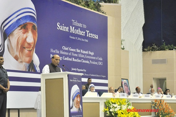 Mother Teresa conquered hearts in India: Rajnath singh