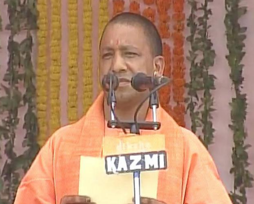 YOGI TAKES OATH AS UP CHIEF MINISTER