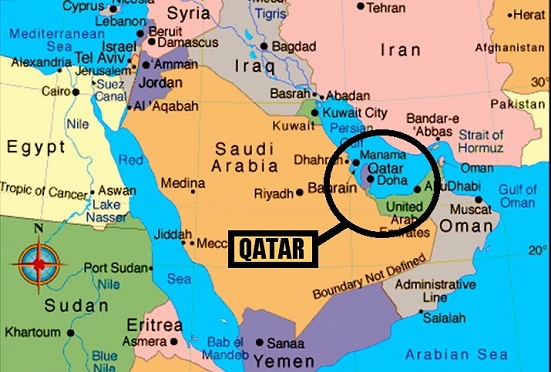 Gulf Crisis Saudi Arabia To Discuss Qatar Crisis With Allies - Map of qatar and egypt