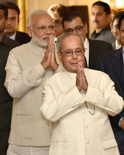 PM Modi gets emotional, praises President Mukherjee during book launch