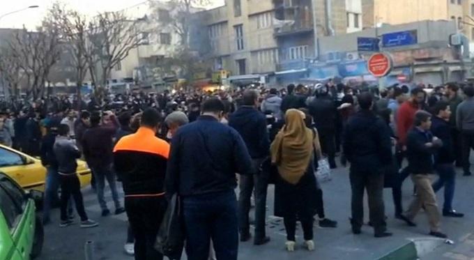 iran protest tv grab
