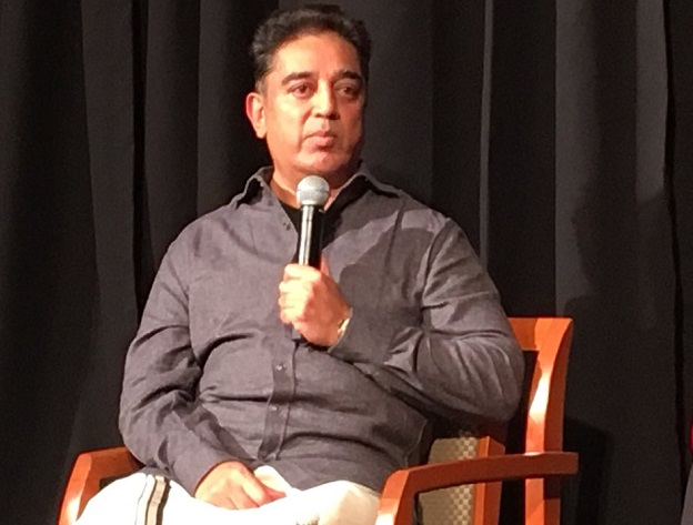 No alliance if 'hue of saffron' remains in Rajini's politics: Kamal Haasan