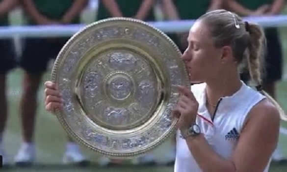 Kerber stuns Williams to win Wimbledon title