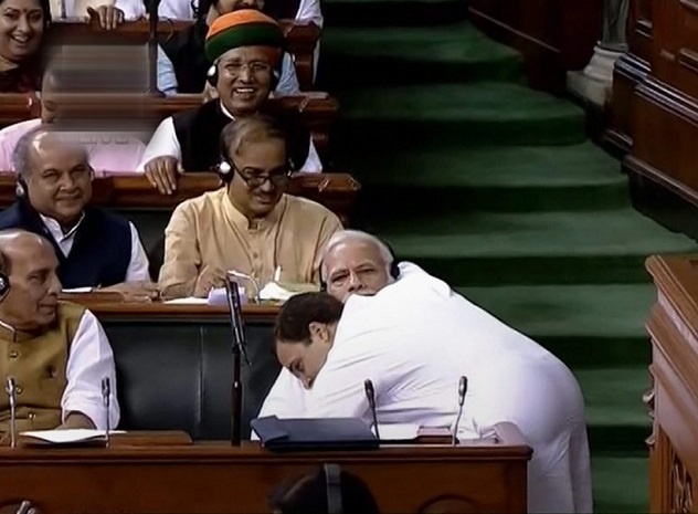 Rahul Gandhi steals the show at the no-confidence motion