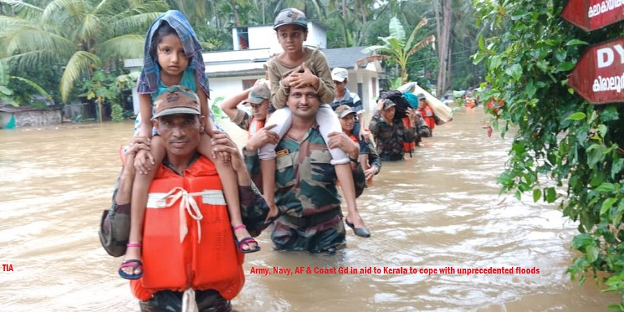 Kerala: Flood situation eases; Relief and Rescue operations on