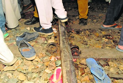 The abandoned belongings of the those who were killed in the accident  at Amritsar on Friday photovishal kumar
