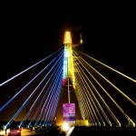 Kejriwal inaugurates Signature Bridge, Praises Nehru for development of India
