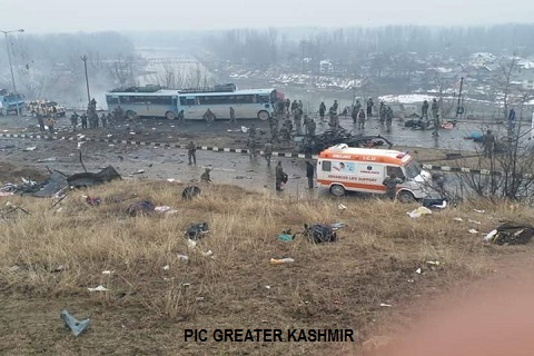 J&K: Over 40 CRPF personnel killed in deadly terror attack