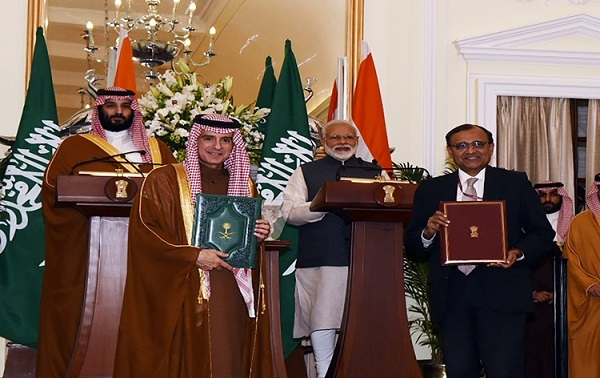 India, Saudi Arabia sign five agreements in various fields