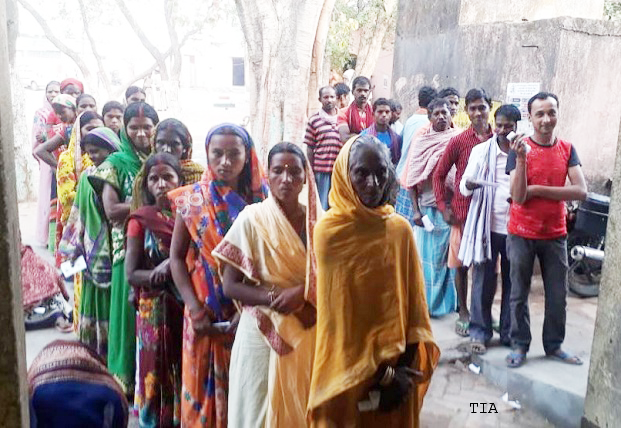 Polling in progress for 3rd phase of Lok Sabha elections