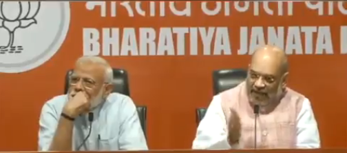 NDA will form next govt with over 300 seats, says Amit Shah in presence of PM