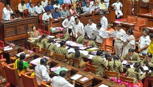 Kumaraswamy govt loses trust vote in Karnataka Assembly