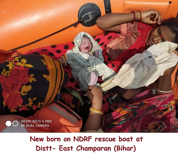 Woman gives birth to baby girl on NDRF rescue boat in flood-hit Bihar