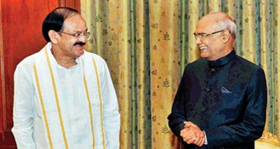 President Kovind congratulates M. Venkaiah Naidu on completing 3 years as V-P