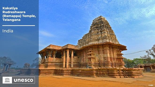 Kakatiya Rudreshwara Temple inscribed as UNESCO World Heritage Site